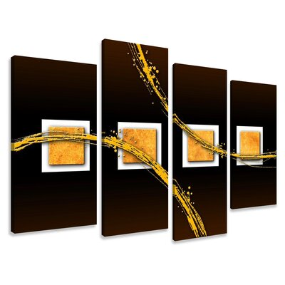 Urban Designs Abstract 4 Piece Graphic Art on Canvas Set