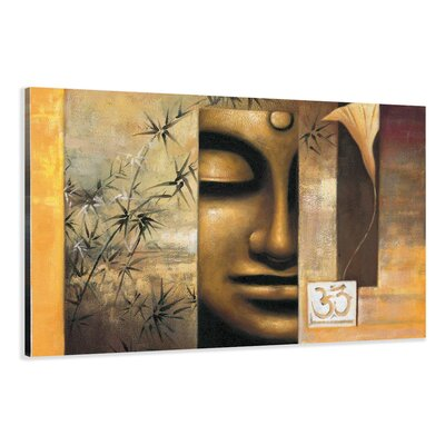 Urban Designs Buddha Graphic Art Wrapped on Canvas