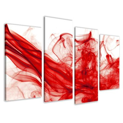 Urban Designs Smoke 4 Piece Graphic Art Wrapped on Canvas Set
