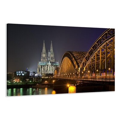 Urban Designs Cologne Cathedral Bridge Photographic Print Wrapped on Canvas