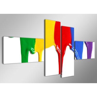 Urban Designs Blending Colors 4 Piece Graphic Art Wrapped on Canvas Set