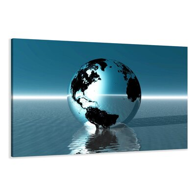 Urban Designs Globe Graphic Art Wrapped on Canvas
