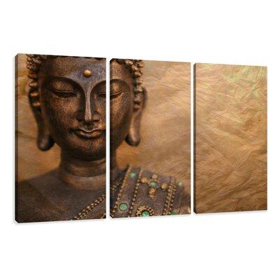 Urban Designs Buddha 3 Piece Photographic Print Wrapped on Canvas Set