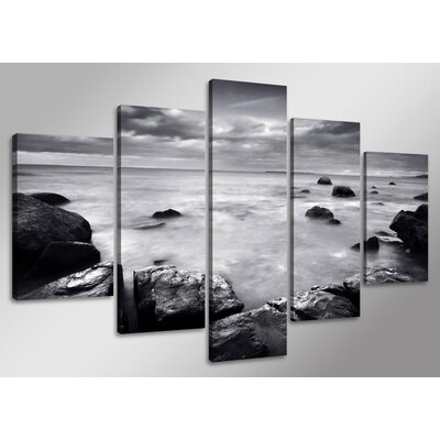 Urban Designs Ocean 5 Piece Photographic Print Wrapped on Canvas Set