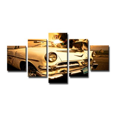 Urban Designs Cadillac 5 Piece Photographic Print Wrapped on Canvas Set