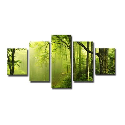 Urban Designs Forest 5 Piece Photographic Print Wrapped on Canvas Set