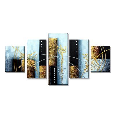 Urban Designs Abstract 5 Piece Graphic Art on Canvas Set
