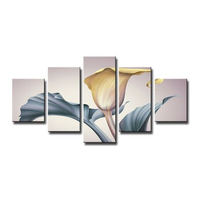 Urban Designs Calla 5 Piece Graphic Art on Canvas Set
