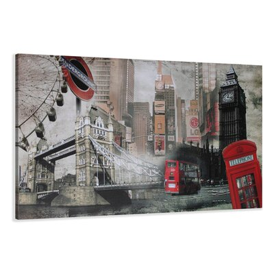Urban Designs London Graphic Art Wrapped on Canvas