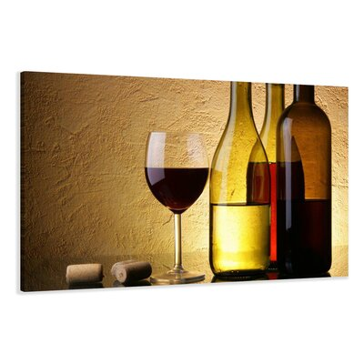 Urban Designs Wine Kitchen Glasses Photographic Print Wrapped on Canvas