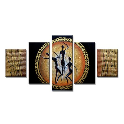 Urban Designs Figures 5 Piece Graphic Art Wrapped on Canvas Set