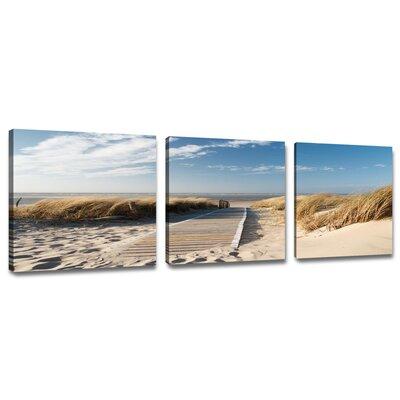 Urban Designs Baltic Sea North Sea Nature 3 Piece Photographic Print Wrapped on Canvas Set