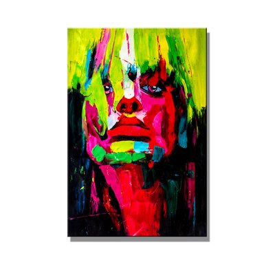 Urban Designs Woman Abstract Art Print Wrapped on Canvas