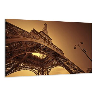Urban Designs Paris Eiffel Tower Photographic Print Wrapped on Canvas