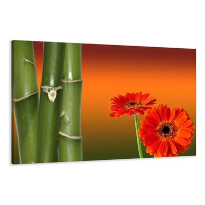 Urban Designs Bamboo Flowers Graphic Art on Canvas
