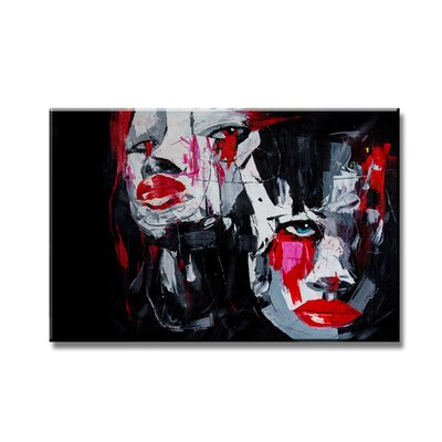 Urban Designs Faces Abstract Art Print on Canvas