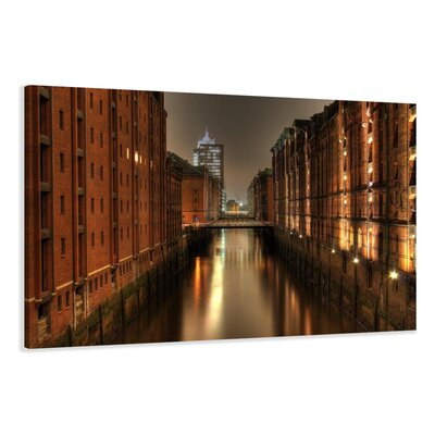 Urban Designs Hamburg Warehouse District Photographic Print on Canvas