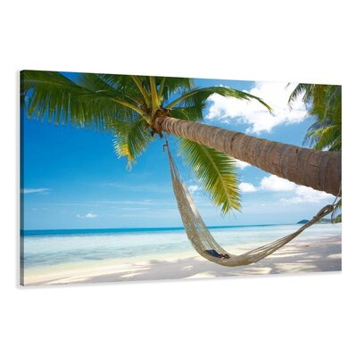Urban Designs Palm Trees Photographic Print Wrapped on Canvas