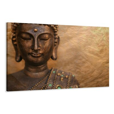Urban Designs Buddha Photographic Print Wrapped on Canvas
