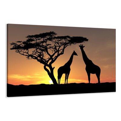 Urban Designs African Giraffes Photographic Print on Canvas