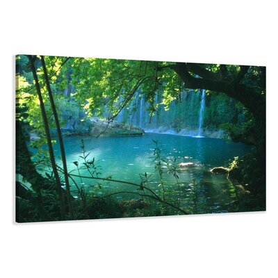Urban Designs Waterfall Photographic Print Wrapped on Canvas