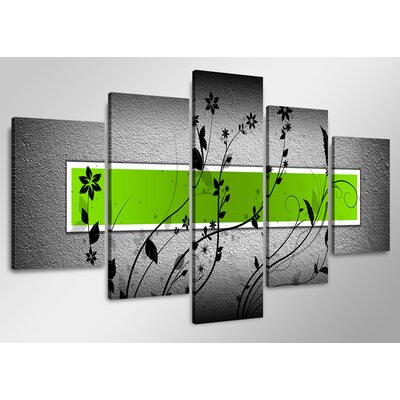 Urban Designs 5 Piece Graphic Art Wrapped on Canvas Set