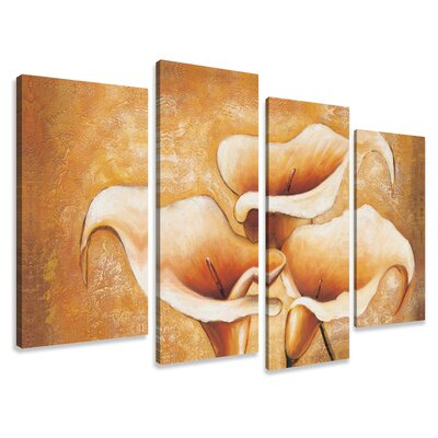 Urban Designs Cala 4 Piece Art Print on Canvas Set