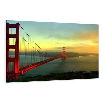 Urban Designs Golden Gate Bridge Photographic Print Wrapped on Canvas