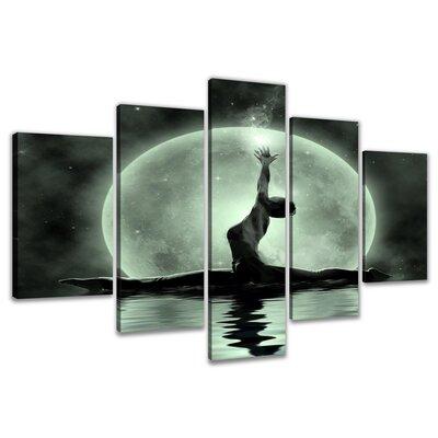 Urban Designs Moon Dancer 5 Piece Graphic Art on Canvas Set