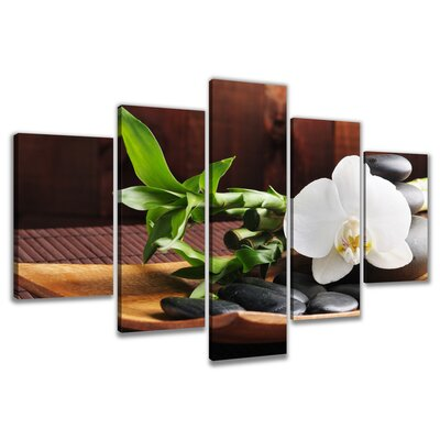 Urban Designs Spa 5 Piece Photographic Print Wrapped on Canvas Set