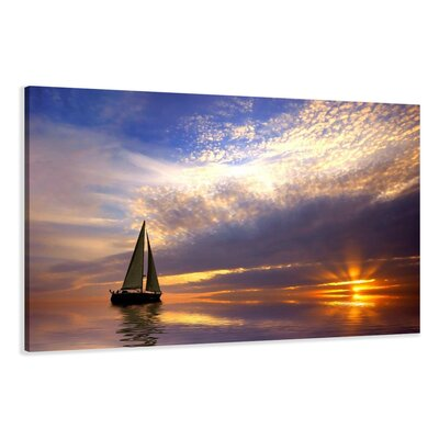 Urban Designs Sailboat Photographic Print on Canvas