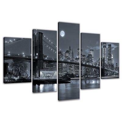 Urban Designs New York 5 Piece Photographic Print on Canvas Set