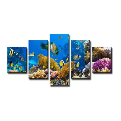 Urban Designs Underwater 5 Piece Photographic Print on Canvas Set