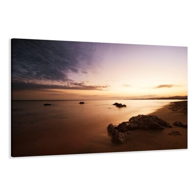Urban Designs Beach Photographic Print Wrapped on Canvas