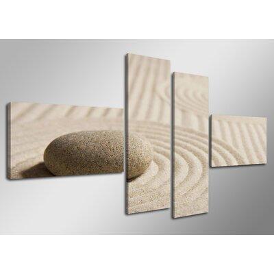 Urban Designs Spa Stones 4 Piece Photographic Print on Canvas Set