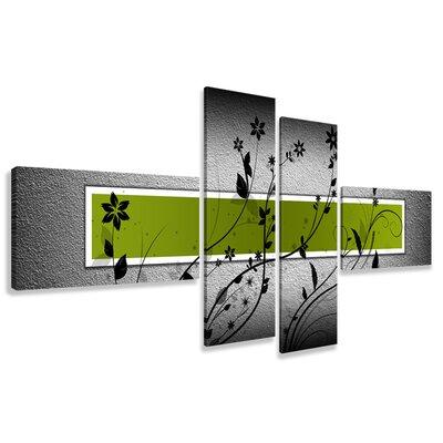 Urban Designs 4 Piece Graphic Art on Canvas Set