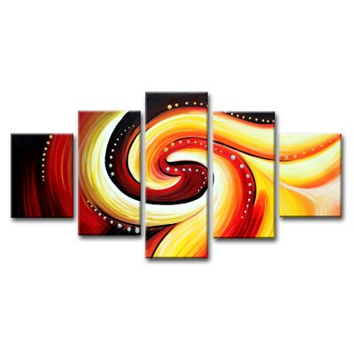 Urban Designs Spiral 5 Piece Graphic Art Wrapped on Canvas Set