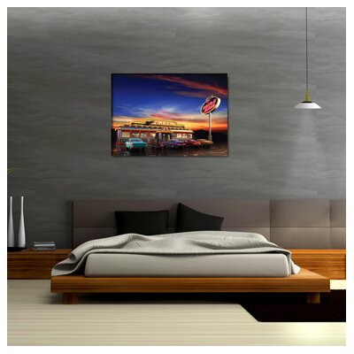 Urban Designs Usa Diner Photographic Print Wrapped on Canvas