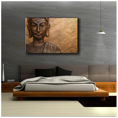 Urban Designs Buddha Photographic Print Wrapped on Canvas