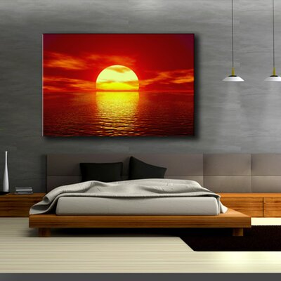 Urban Designs Sun Photographic Print Wrapped on Canvas