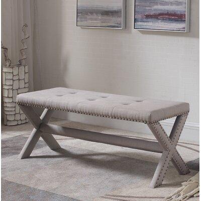 Vanslyke Upholstered Bedroom Bench Upholstery: Neutral Gray
