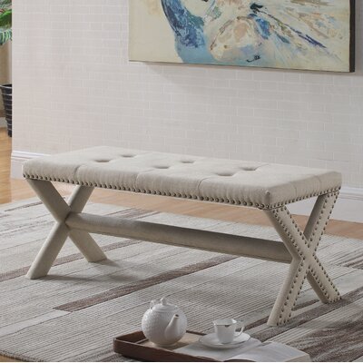 Vanslyke Upholstered Bedroom Bench Upholstery: Natural