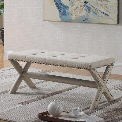 Vanslyke Upholstered Bedroom Bench Upholstery: Natural
