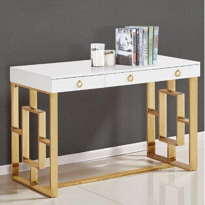 Shawndell Writing Desk Color (Frame): Gold