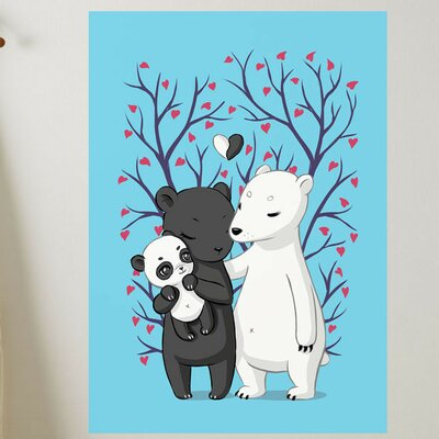 Animal Bear Family Wall Decal Size: Large