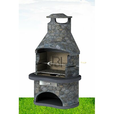 BK Cookware Tampered Masonary Built-In Charcoal Barbecue