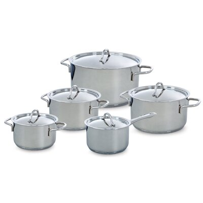 BK Cookware Profiline 5 Piece Stainless Steel Cookware Set