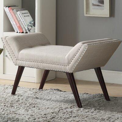 Sharonville Upholstered Bench Color: Beige