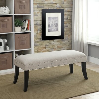 Upholstered Bench Color: Natural Linen