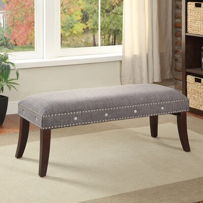 Upholstered Bench Color: Grey